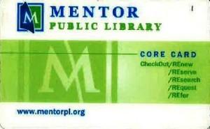 Mentor Public Library card