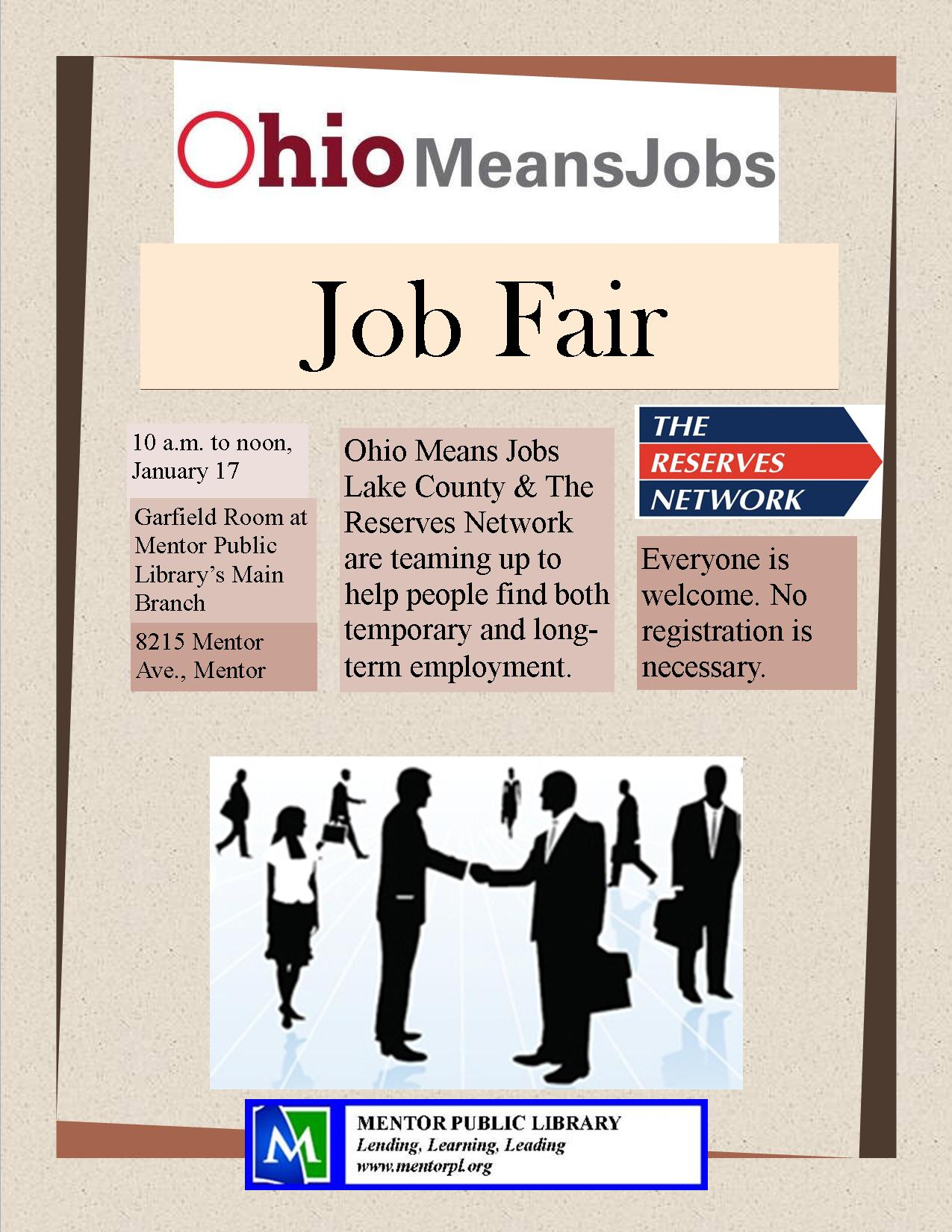ohio means jobs & the reserves network hosting job fair at mentor