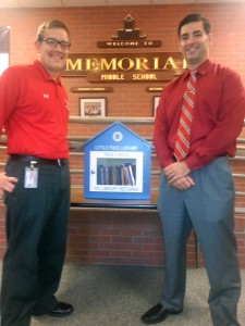 We dropped off our newest Little Free Library at Memorial Middle School on Friday.