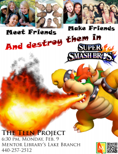 Roast your friends during the first meeting of The Teen Project on Feb. 9 at Mentor Library's Lake Branch.