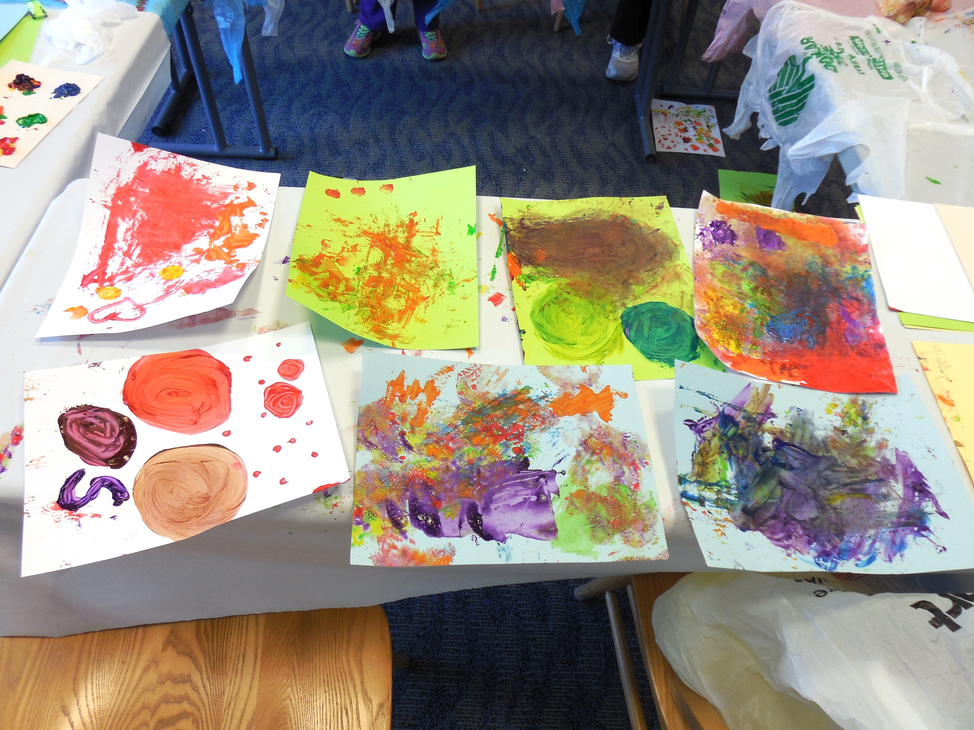 On Saturday at our Mentor-on-the-Lake Branch, we gave children paint of  every shade of the rainbow. Then we gave them plastics forks, bubble wrap, Q-tips,  ...