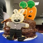 """Lisa did a beautiful job using cookies to depict the cover of """"Creepy Carrots."""""""