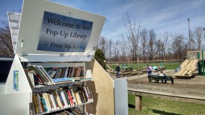Our Pop-Up Library will be popping up all over the place now that the weather's warmer.