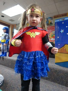 Wonder Woman—secret identity: Olivia—is gearing up for summer reading at Mentor Public Library.