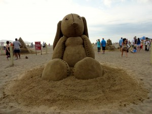 Also, to the artist who sculpted an enormous Velveteen Rabbit, thanks for making us cry at the beach.