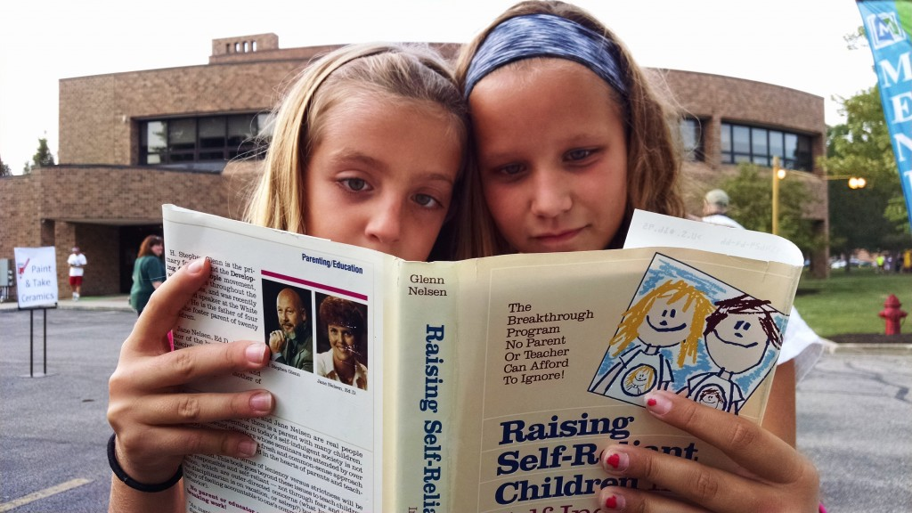 """The title of the the book is """"Raising Self-Reliant Children in a Self-Indulgent World;"""" so, in addition to self-reliance, these kids definitely have a sense of humor."""