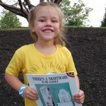 Elizabeth's new book makes her smile.