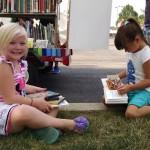 Jaelynn and Sophia read their books.