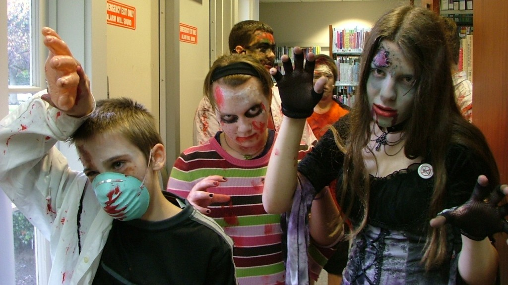 We're throwing a Zombie Party on Monday, Oct. 12, at our Lake Branch.
