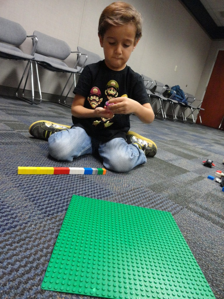 Kids can build based on a theme or make whatever they imagine.