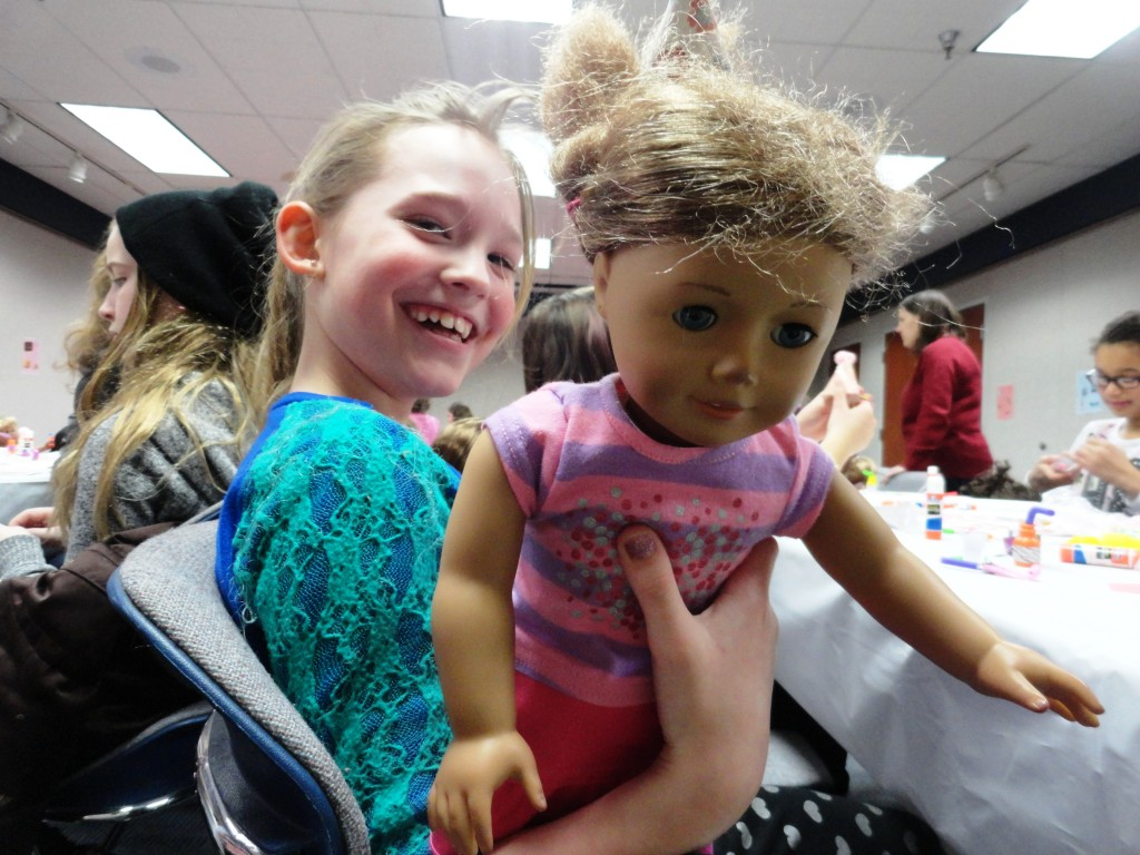 Kids came come to a sockhop with the newest American Girl, Maryellen, on Jan. 23 at Mentor Public Library.