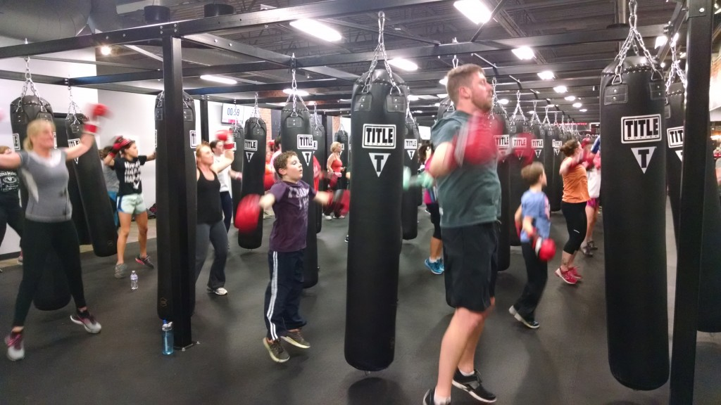 The boxing class included  cardio, to improve heart health and stamina.