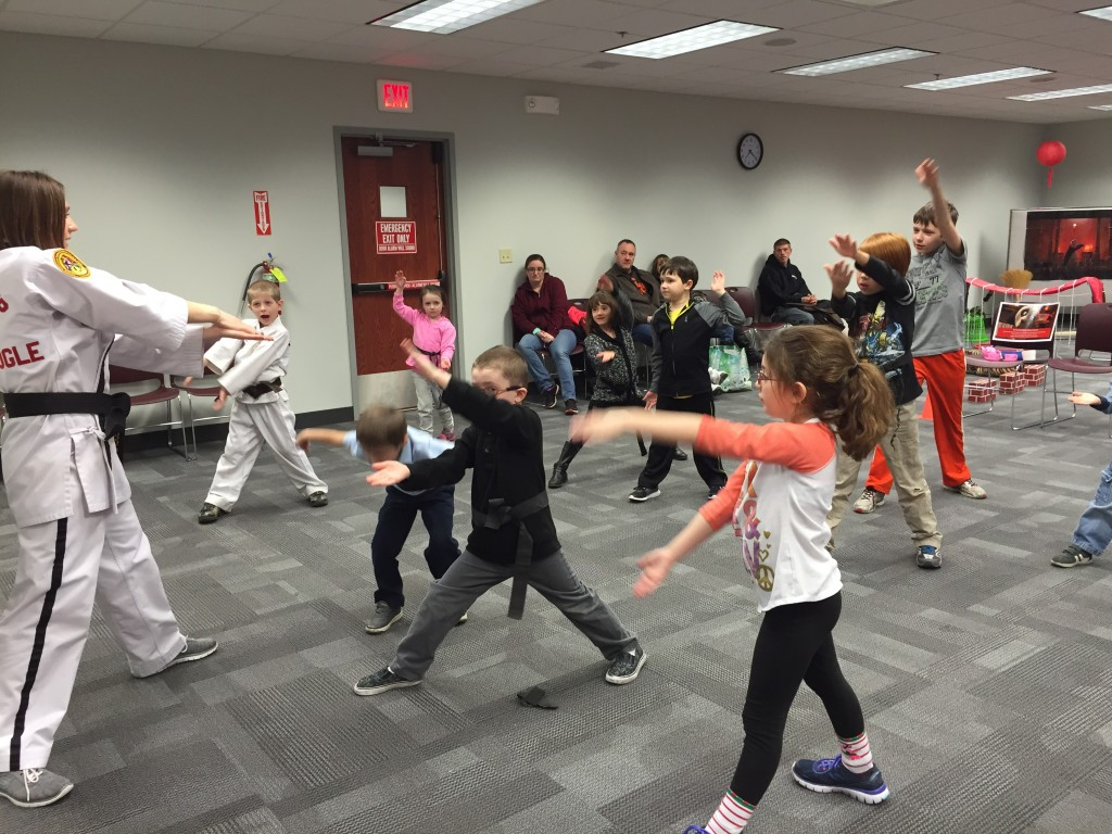 Karate for Kids gave a free demonstration during our Kung Fu Panda kickoff party.
