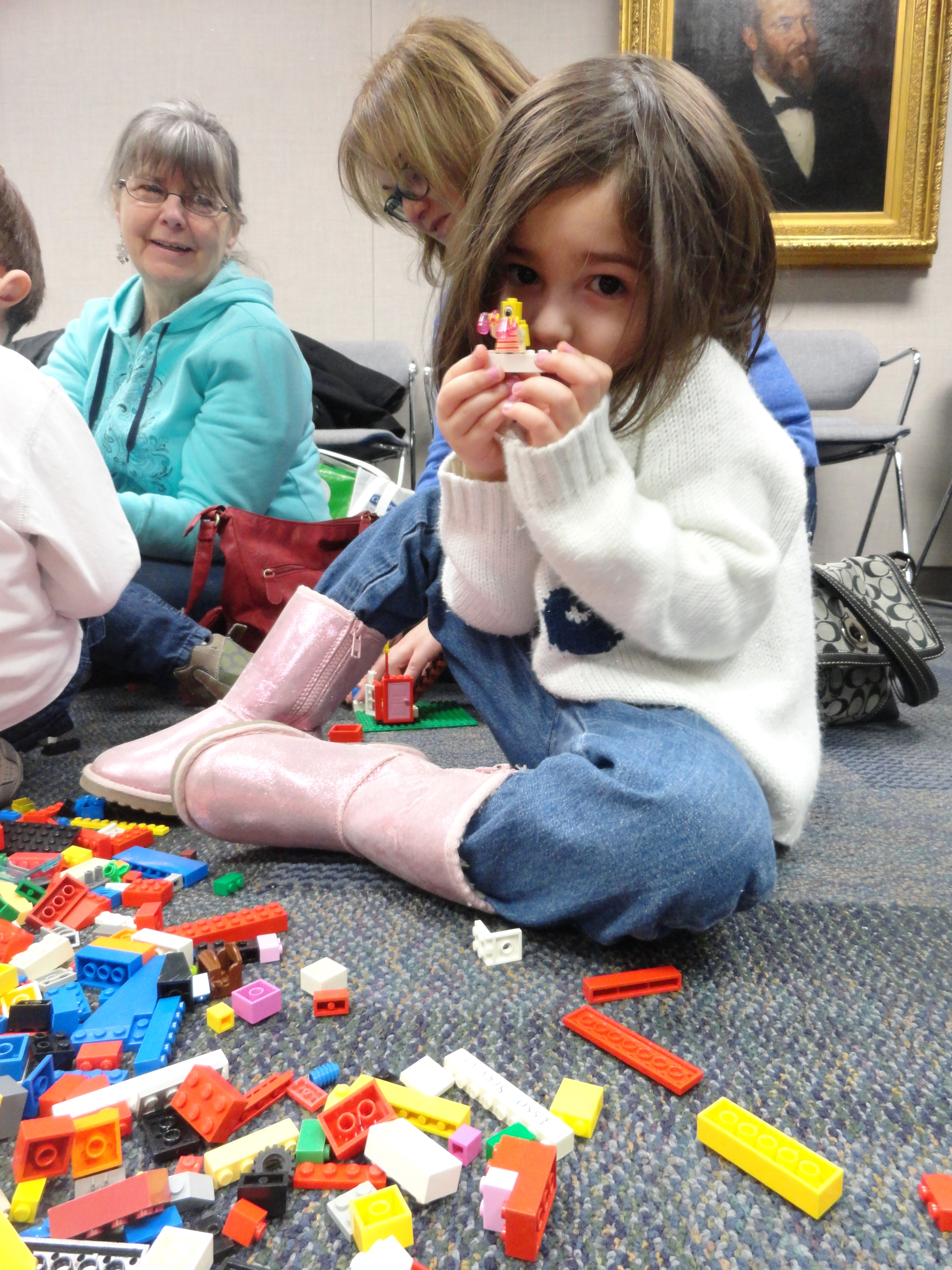 learning by playing lego at mentor public library mentor elizabeth shows us what she made during kids work