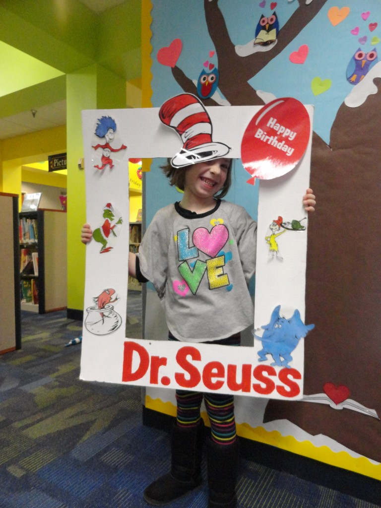 Sawyer joined all the kids who celebrated reading during our birthday party for Dr. Seuss on Wednesday.