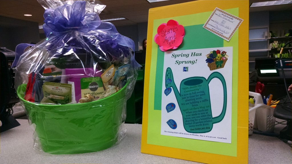 Borrow seed from MPL's seed library and you could win a gift basket.