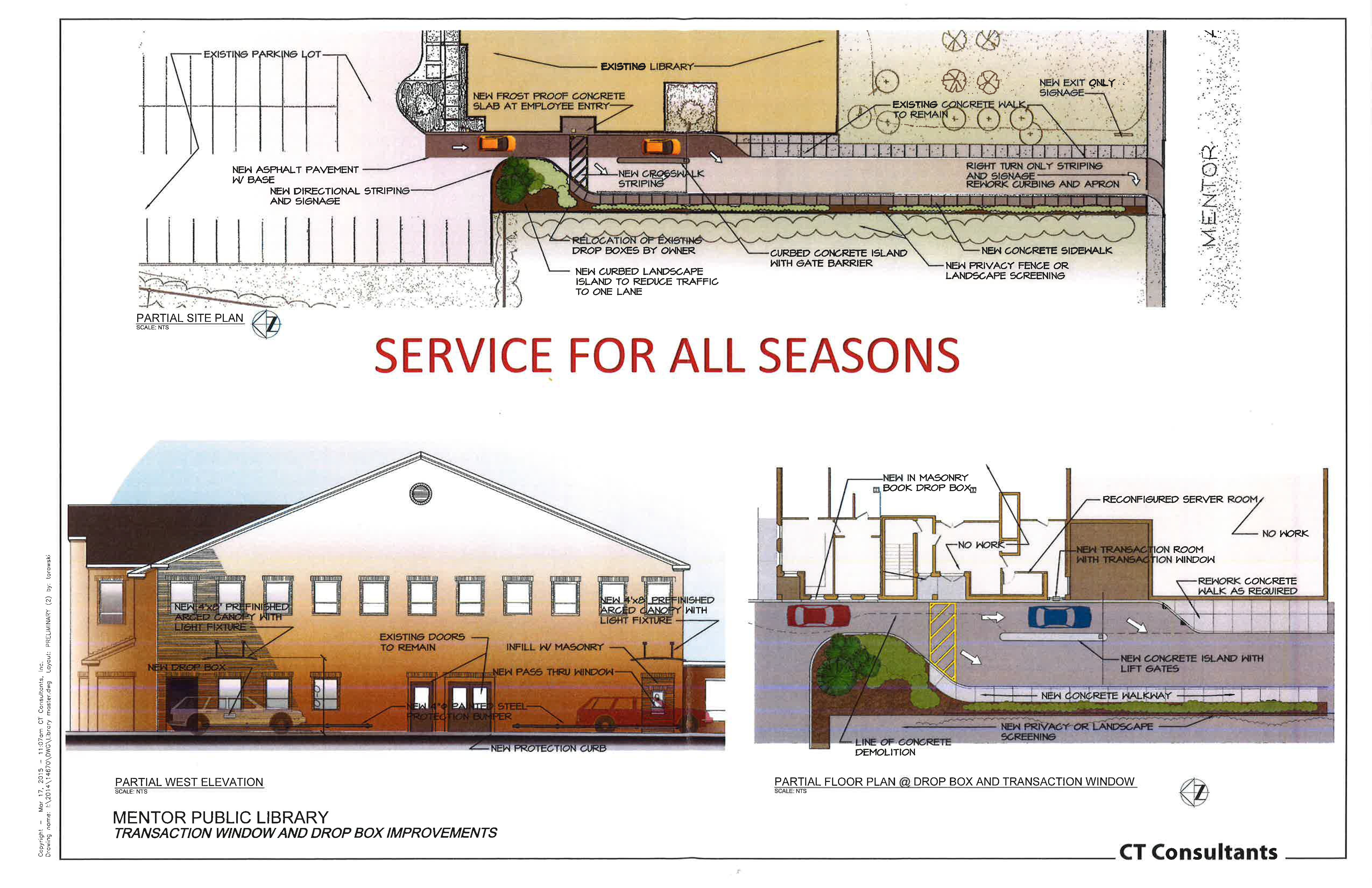 Construction will begin April 4 on the new drive-thru at our Main Branch.