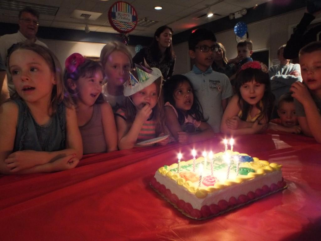 """Kids help us sing """"Happy Un-Birthday."""""""