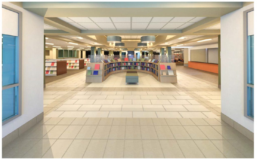 The lobby in Mentor Public Library's Main Branch will transform this autumn.