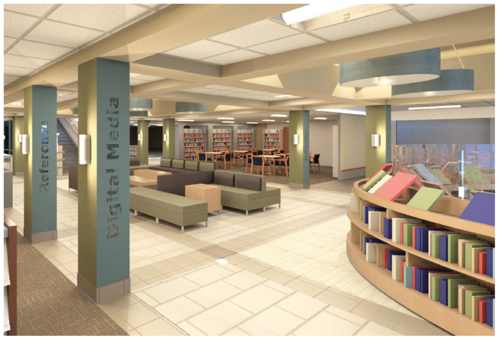 Kilbourne Commons is designed to accommodate both browsers and readers.