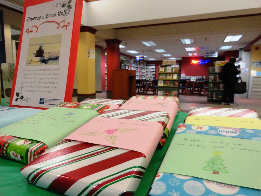 Unwrap a book at Mentor Public Library and get yourself a gift.