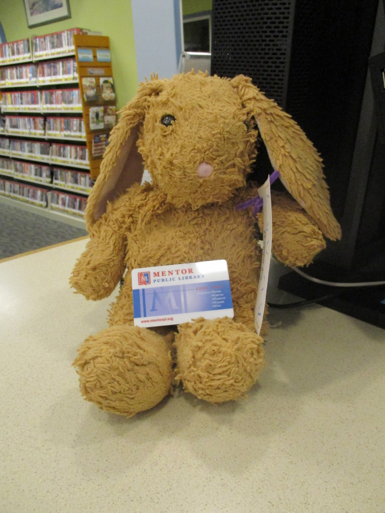 One smart bunny even got their library card while here.