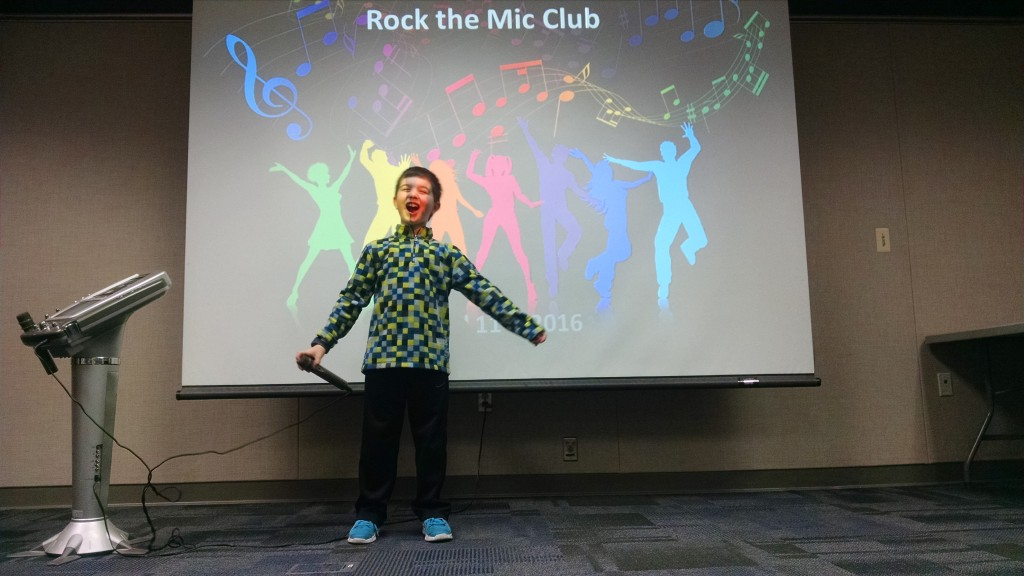 Our Rock the Mic Club returns on Monday, April 10.