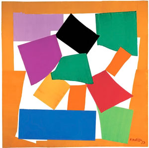 Henri Matisse, The Snail, 1953, Gouache on paper, cut and pasted, on white paper, collection Tate Modern