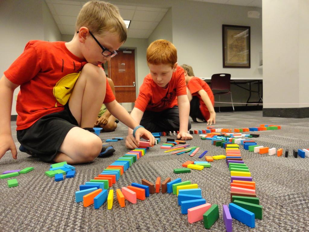 Jacob and Killian collaborate on a Domino run.