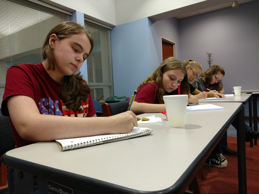 Teen writers can hone their craft together at our Write On Club.