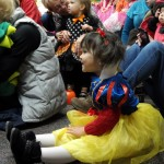 Snow White laughs during our Tiddlywinks story time.