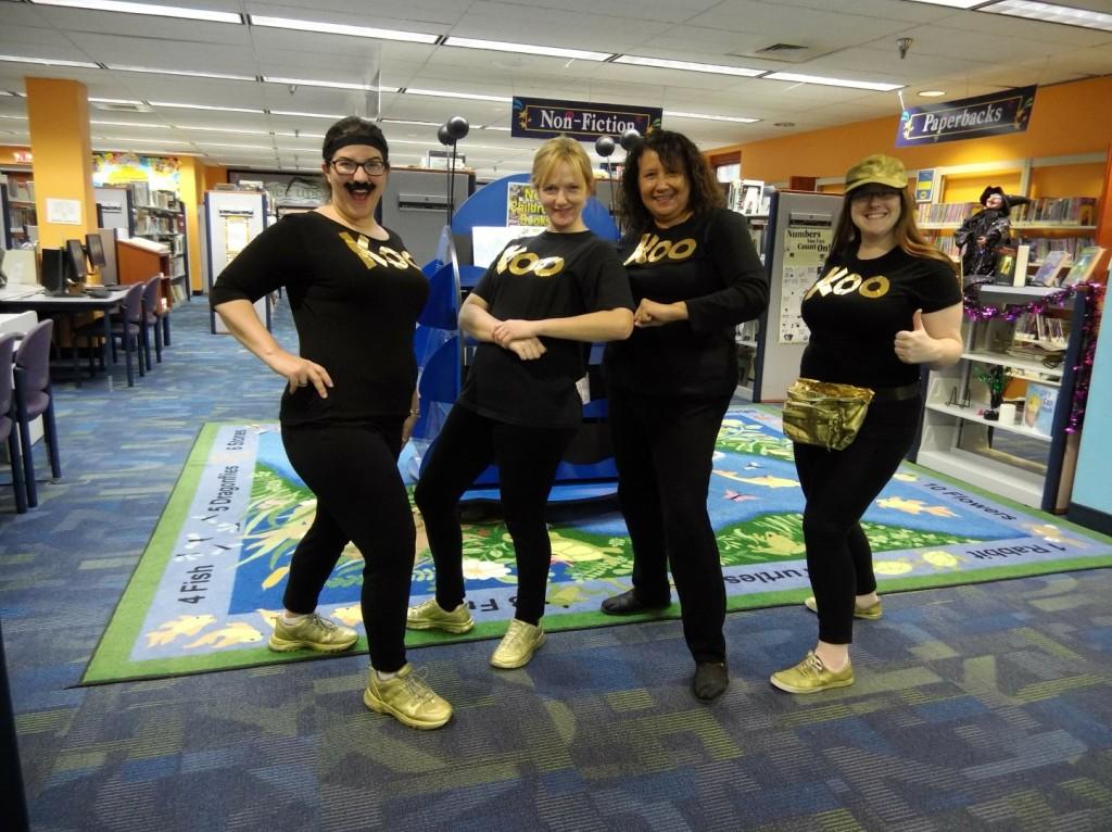 We had the Koo Koo Kanga Roo crew in our Children's Department.