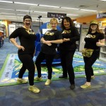 We had the Koo Koo Kanga Roo crew in our Children's Department.