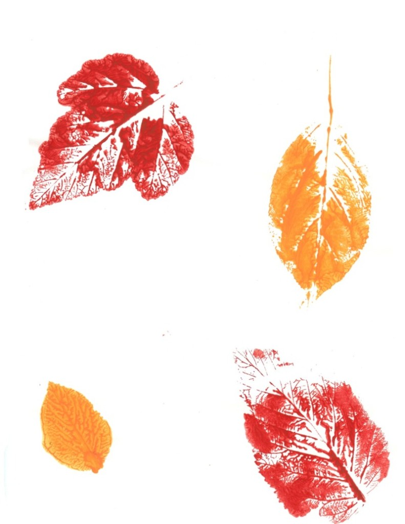 Teens can make colorful leaf prints at our Lake Branch on Monday, Oct. 23.