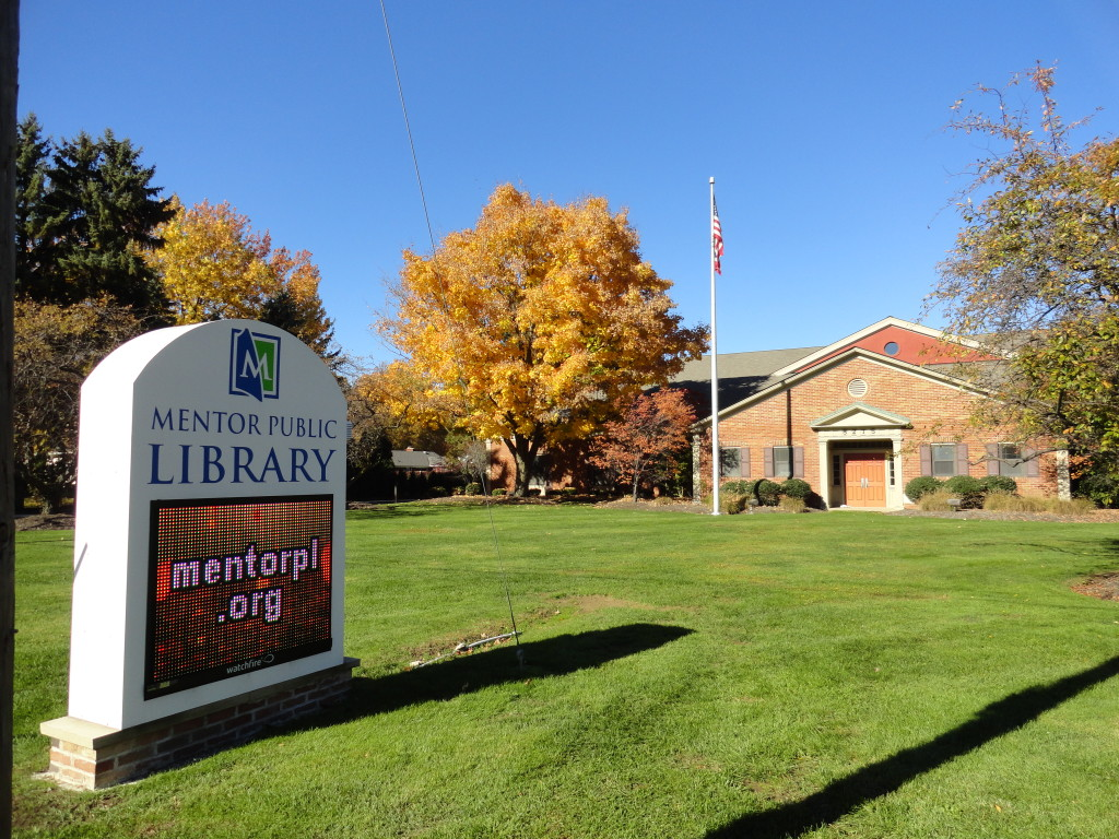 All three of Mentor Public Library's branches will be closed this Friday, Oct. 6, for an In-Service Day.