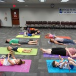 It's always nice to to relax with a little shavasana.
