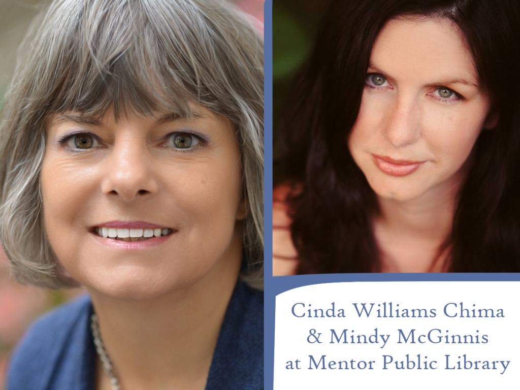 Cinda Williams Chima and Mindy McGinnis are coming to Mentor Public Library on Tuesday, July 17.