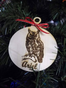 Create personalized ornaments with the laser engraver at The HUB's MakerSpace.