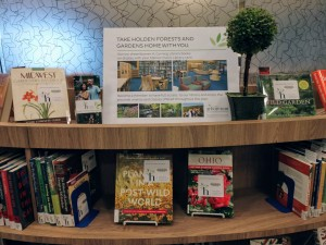 Borrow books from the Corning Library in Holden Arboretum at Mentor Public Library.