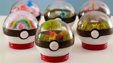 Pokeball Terrariums