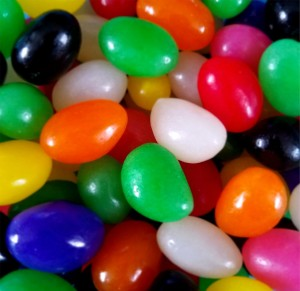 Kids can win a prize for building the tallest structure out of jelly beans on Saturday, April 27, at our Headlands Branch.