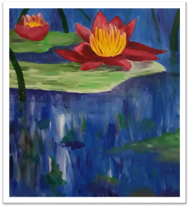 Learn how to paint water lilies using the techniques of Claude Monet during a painting workshop at Mentor Public Library.