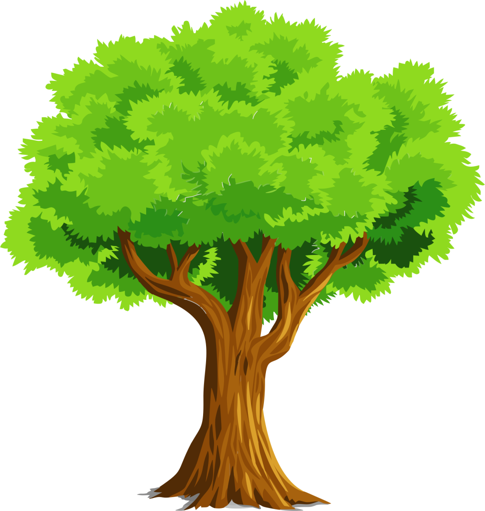 Colorful Natural Tree Vector Clipart Mentor Public Library