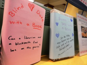 Blind Date books are waiting for the picking from one of the main displays at Mentor Public Library's Main Branch.