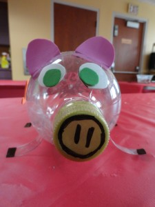 Kids can make their own piggy banks during Money Smart Week, because it's never too soon to acquire fiscal sense.