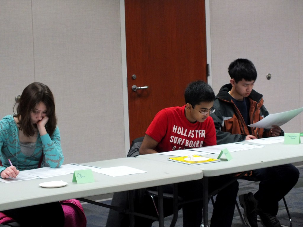 Students prepare for their upcoming ACT at Mentor Public Library