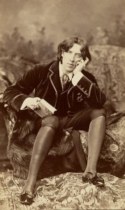 In addition to being a better writer than most of humanity, Oscar Wilde was also better dressed