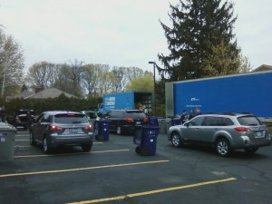 Last year, more than 200 cars dropped off documents for shredding at Mentor Library.