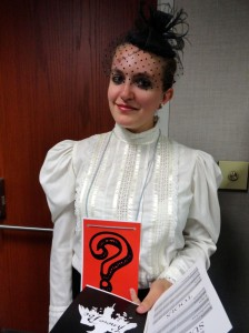 Erin came dressed in costume for our life-sized, Poe-inspired game of Clue.
