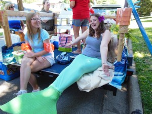 That's right. We found a real live mermaid. Her name is Marilyn and she works in the children's department.